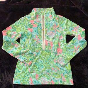 Lilly Pulitzer half zip pop over sweatshirt